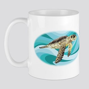 protect our turtles bumper sticker copy Mug