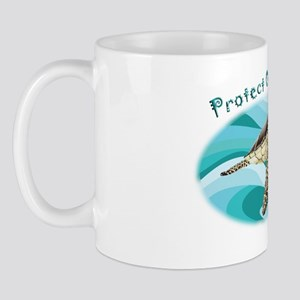 protect our turtles rectangle copy Mug
