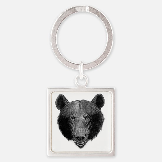 Brown Bear Square Keychain