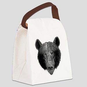Brown Bear Canvas Lunch Bag