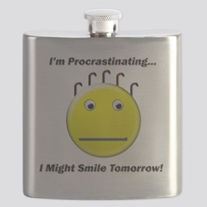 Im Procrastinating I Might Smile Tomorrow Flask