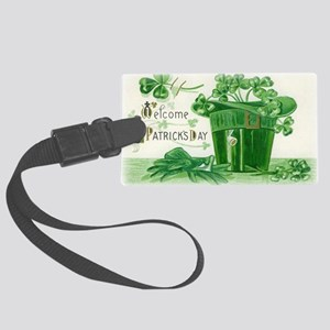 Vintage Green St Patricks Day Sh Large Luggage Tag