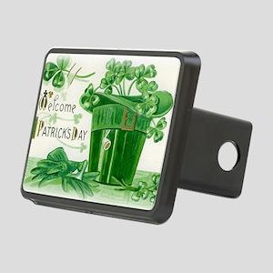 Vintage Green St Patricks  Rectangular Hitch Cover