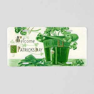 Vintage Green St Patricks D Aluminum License Plate