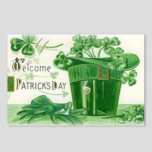 Vintage Green St Patricks Postcards (Package of 8)