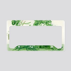 Vintage Green St Patricks Day License Plate Holder