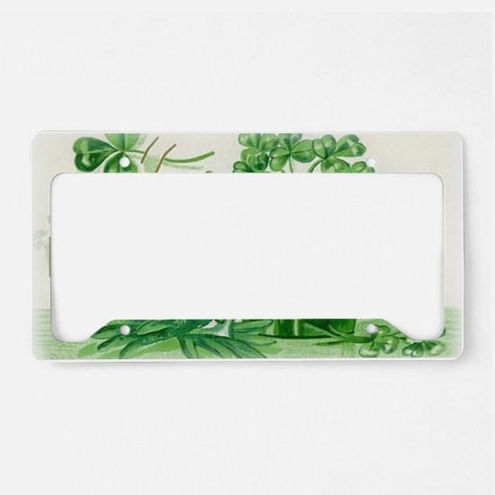 Vintage Green St Patricks Day License Plate Holder