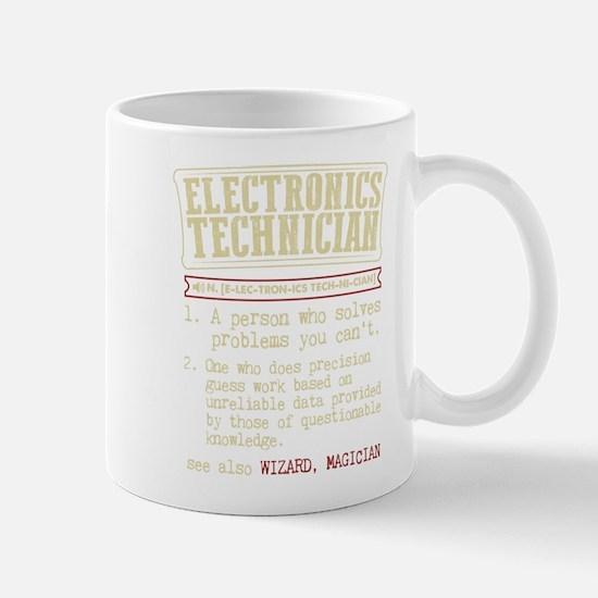 Electronics Technician Dictionary Term T-Shir Mugs