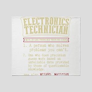 Electronics Technician Dictionary Te Throw Blanket