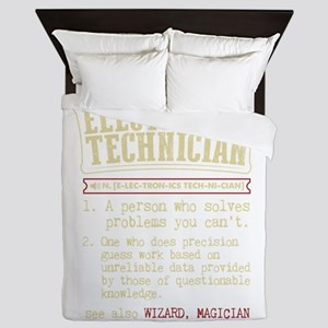 Electronics Technician Dictionary Term Queen Duvet