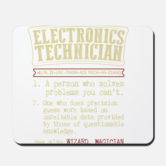 Electronics Technician Dictionary Term T Mousepad