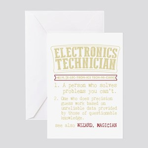Electronics Technician Dictionary T Greeting Cards