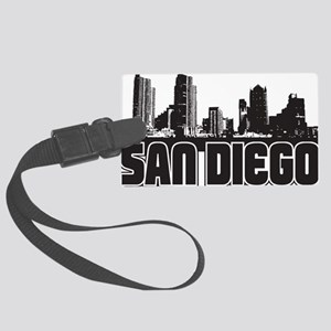 San Diego Skyline Large Luggage Tag
