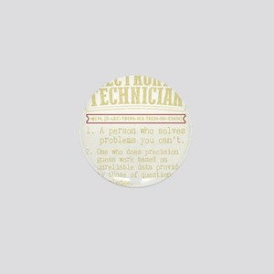 Electronics Technician Dictionary Term Mini Button