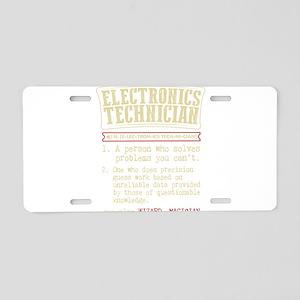 Electronics Technician Dict Aluminum License Plate
