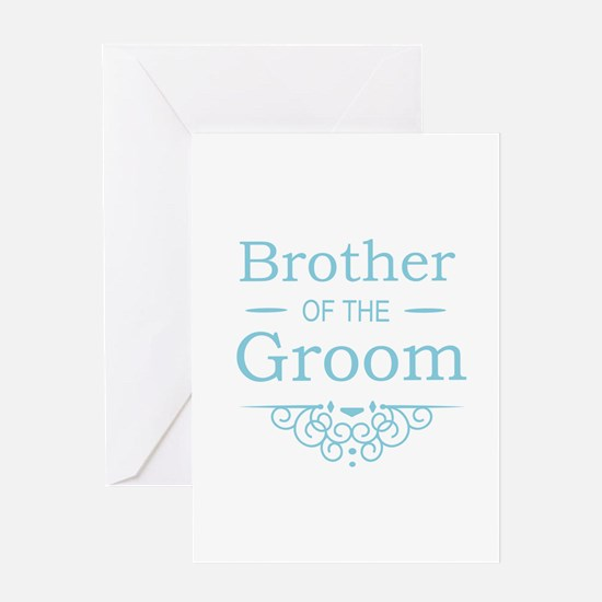 Brother of the Groom blue Greeting Cards