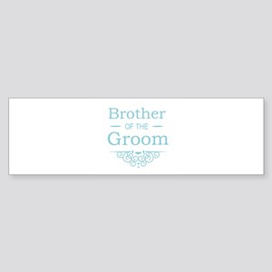 Brother of the Groom blue Bumper Sticker