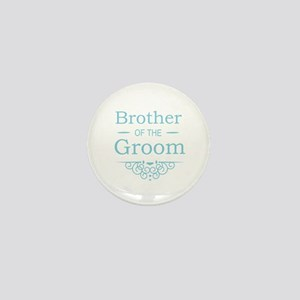 Brother of the Groom blue Mini Button