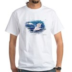 Peaceful Seagull White T-Shirt