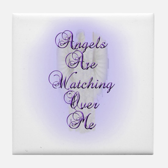 Angels Are Watching Over Me copy Tile Coaster