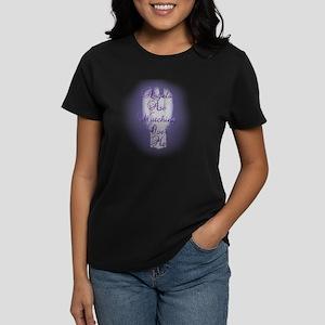 Angels Are Watching Over Me c Women's Dark T-Shirt