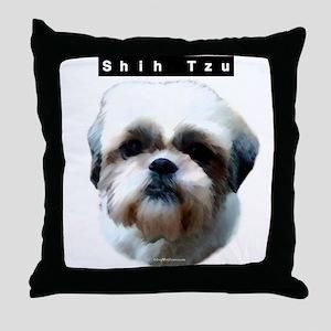 Shih Tzu Head Throw Pillow