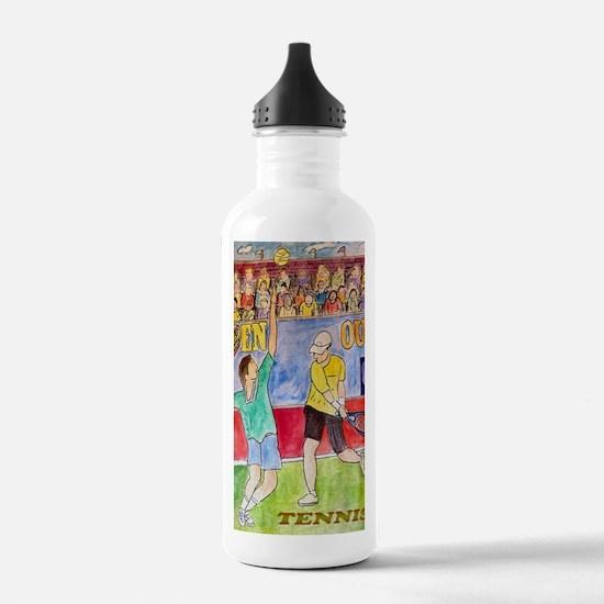 tennis frame print Water Bottle