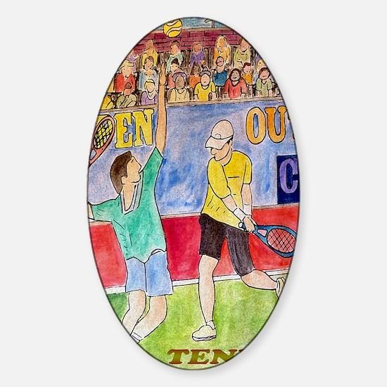 Tennis players Sticker (Oval)