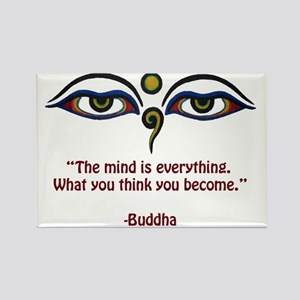the mind is copy Rectangle Magnet
