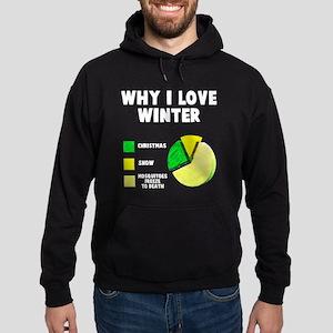 Why I love winter Hoodie (dark)