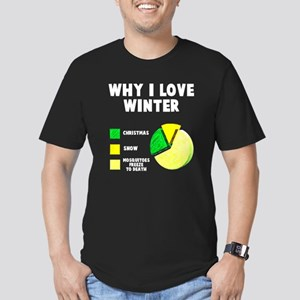 Why I love winter Men's Fitted T-Shirt (dark)
