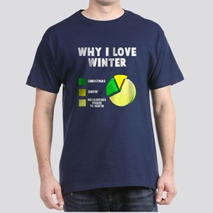 Why I love winter Dark T-Shirt