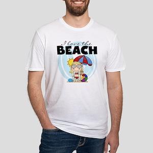 123GIRLLOVEBEACH Fitted T-Shirt