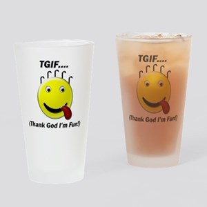 TGIF Drinking Glass