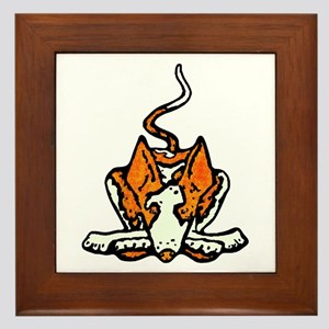Ib in Orange Framed Tile