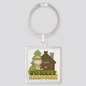 FORESTRANGERBOY3 Square Keychain