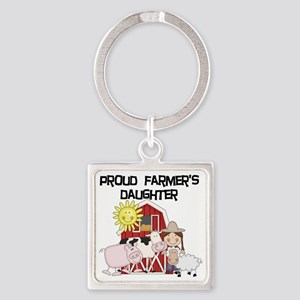 farmerdaughter Square Keychain
