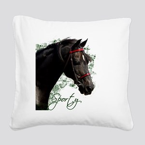 Sporty2 Square Canvas Pillow