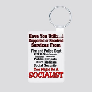 socialist Aluminum Photo Keychain