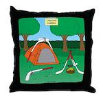 Canadian Camping Throw Pillow