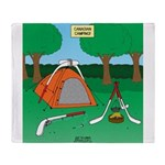Canadian Camping Throw Blanket