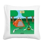 Canadian Camping Square Canvas Pillow