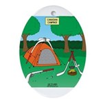Canadian Camping Oval Ornament