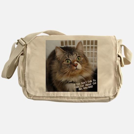 CATNIPGraphic Messenger Bag