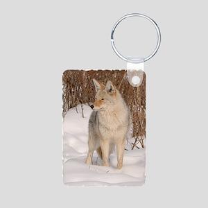 x14wht  Coyote 048 Aluminum Photo Keychain