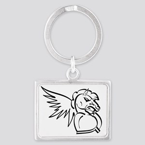 Winged-Knights-Back-Patch Landscape Keychain