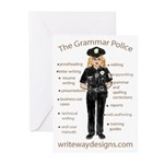 Grammar Police Greeting Cards (Pk of 10)