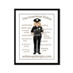 Grammar Police Framed Panel Print