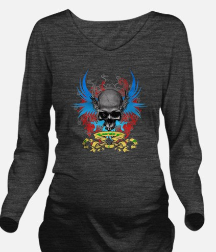 Loki rip Skullz 2 ed Long Sleeve Maternity T-Shirt