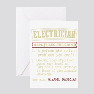 Electrician Funny Dictionary Term Greeting Cards